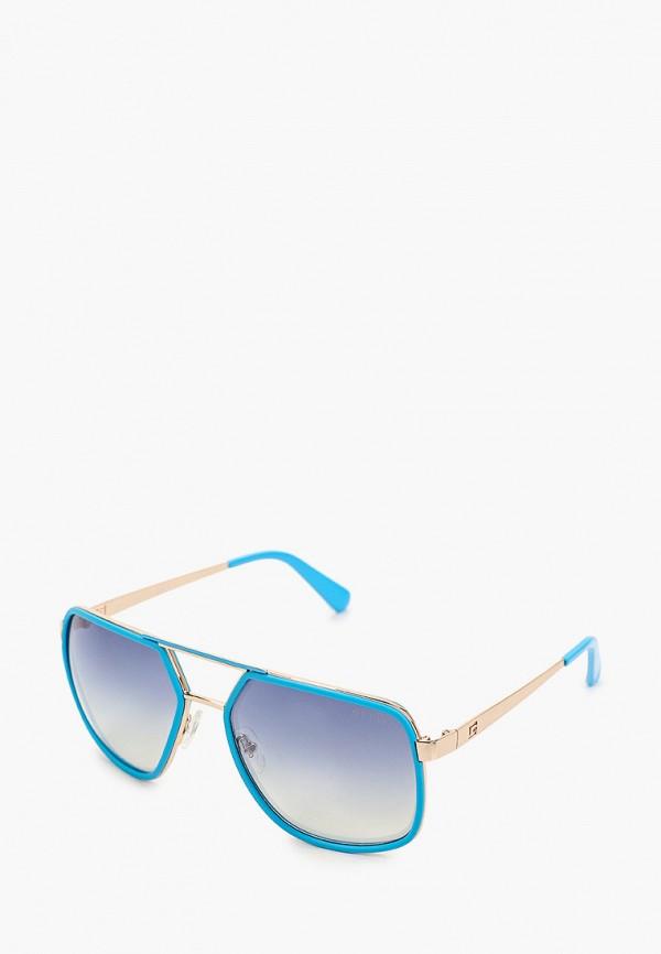 женские авиаторы солнцезащитные очки guess, голубые
