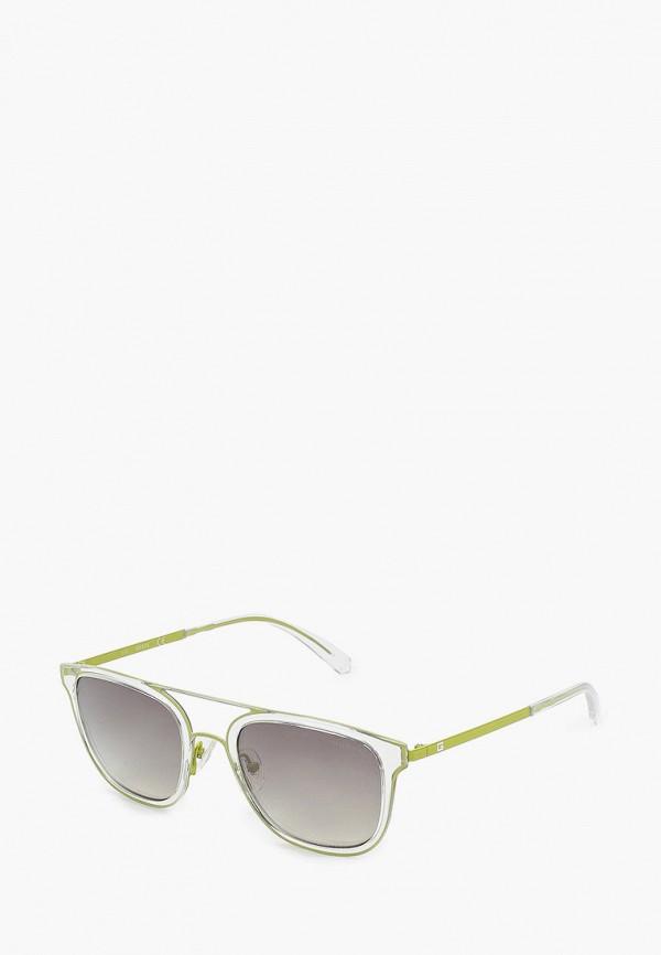 женские квадратные солнцезащитные очки guess, хаки