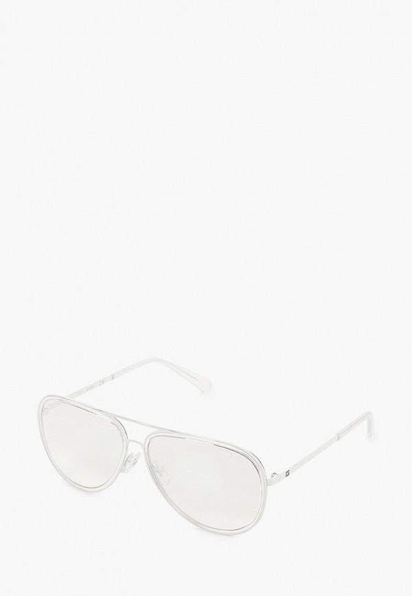 женские авиаторы солнцезащитные очки guess, белые