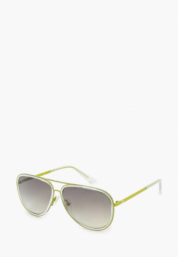 женские авиаторы солнцезащитные очки guess, желтые