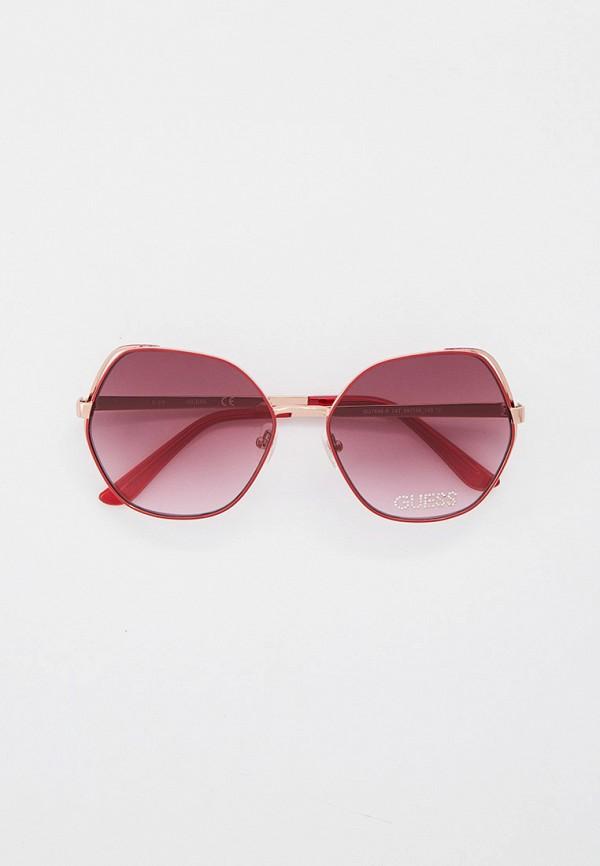 женские солнцезащитные очки guess, бордовые