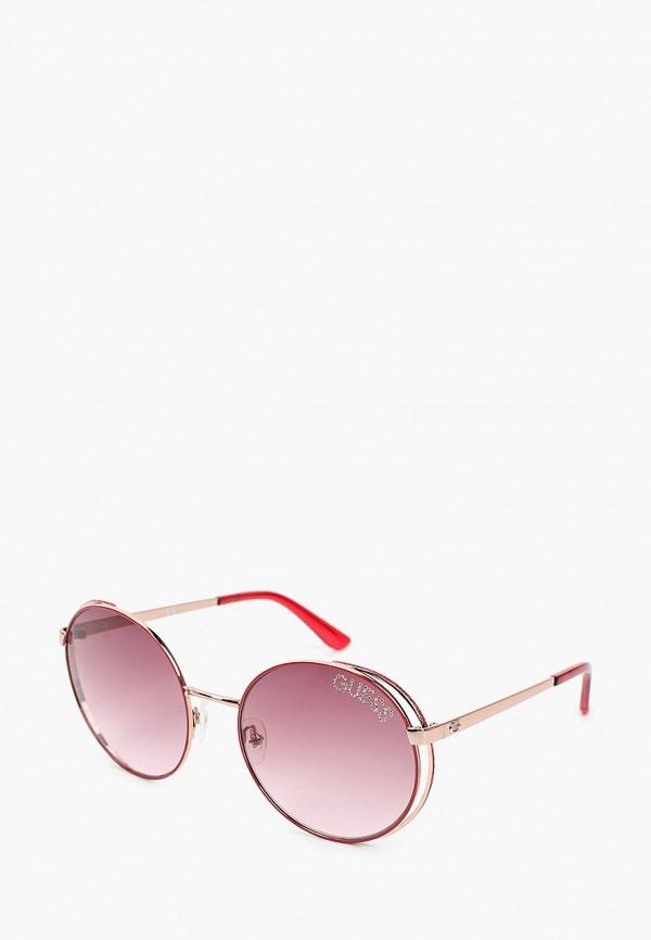 женские солнцезащитные очки guess, розовые