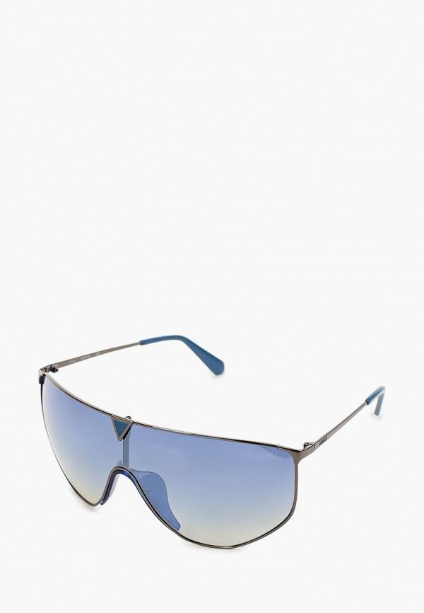 женские авиаторы солнцезащитные очки guess, серебряные