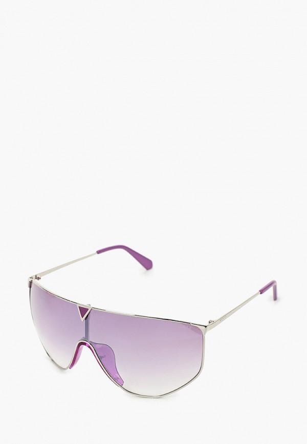 женские авиаторы солнцезащитные очки guess, фиолетовые
