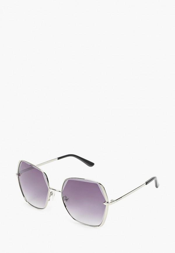 женские квадратные солнцезащитные очки guess, серебряные
