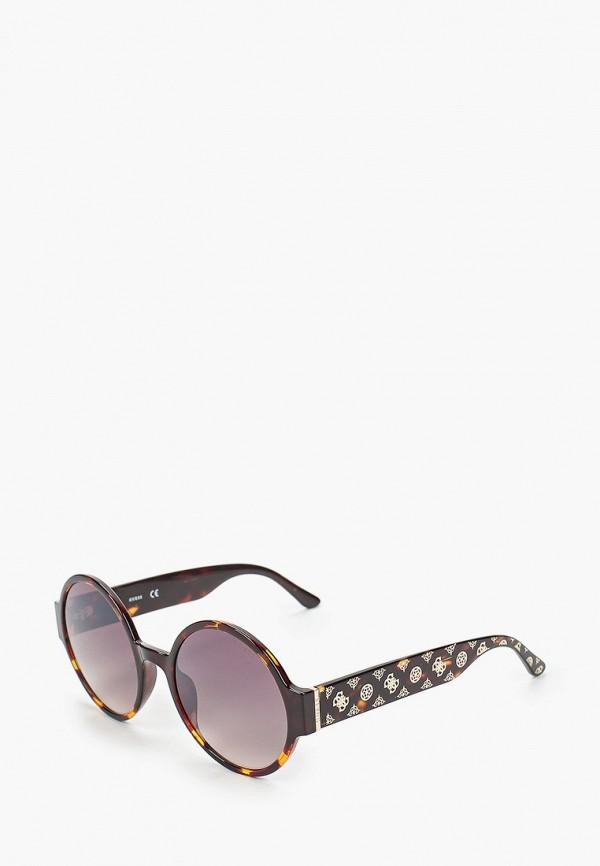 женские круглые солнцезащитные очки guess, коричневые