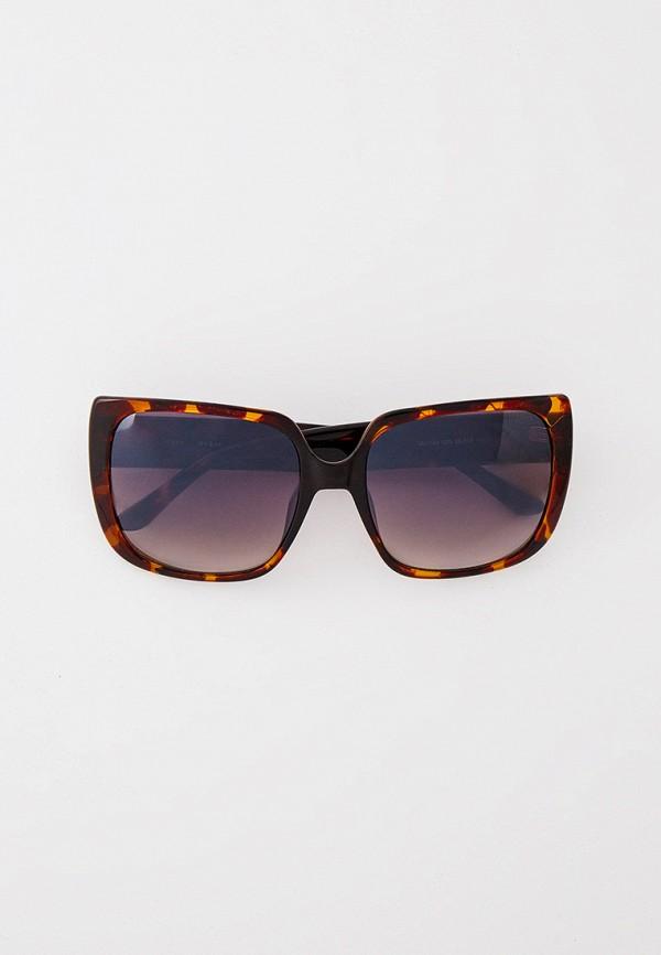 женские квадратные солнцезащитные очки guess, коричневые