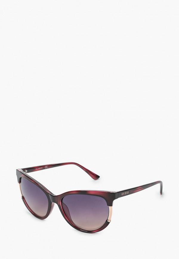 женские круглые солнцезащитные очки guess, фиолетовые