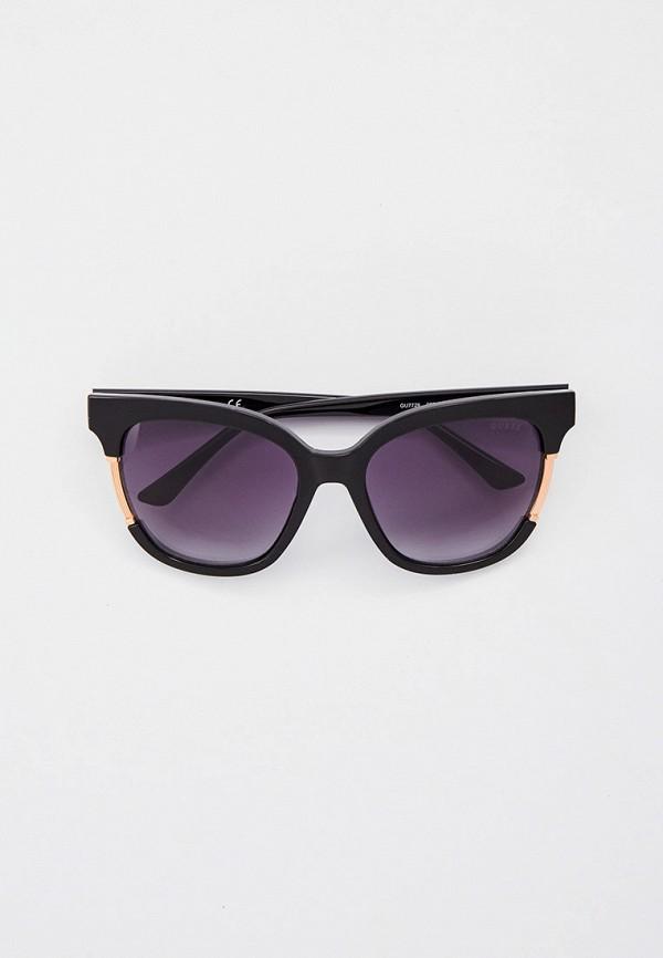 женские солнцезащитные очки кошачьи глаза guess, черные