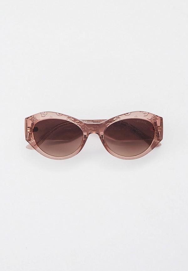 женские круглые солнцезащитные очки guess, бежевые