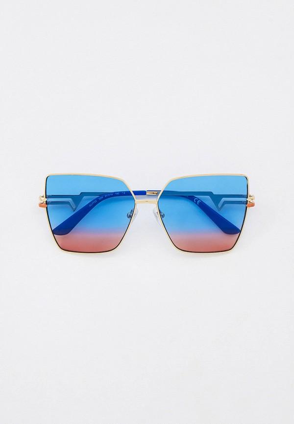 женские квадратные солнцезащитные очки guess, золотые