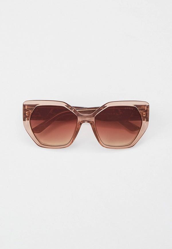 женские солнцезащитные очки guess, бежевые