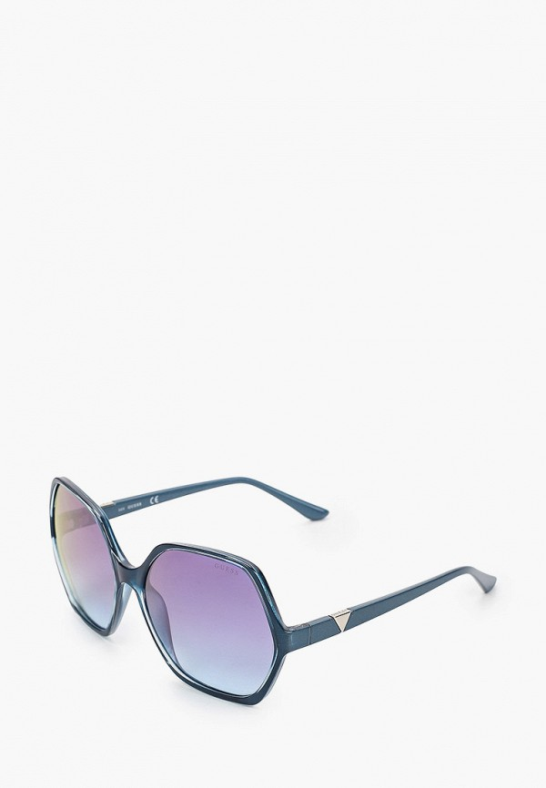 женские солнцезащитные очки guess, синие