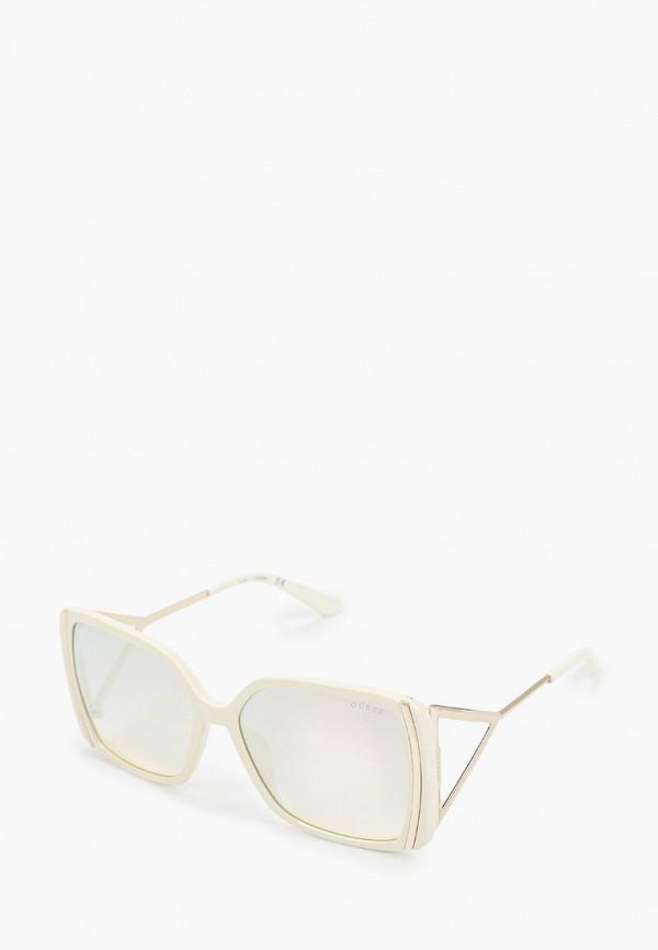 женские квадратные солнцезащитные очки guess, бежевые