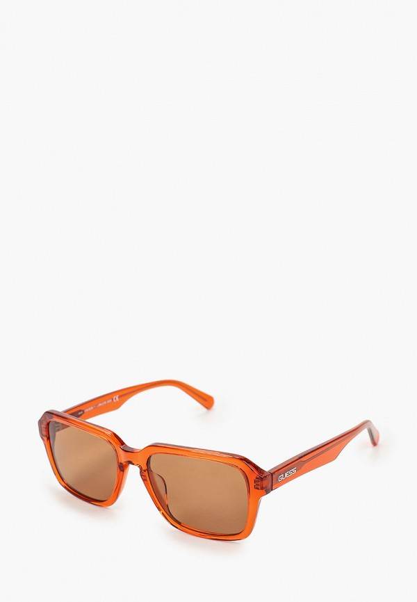 женские солнцезащитные очки guess, оранжевые