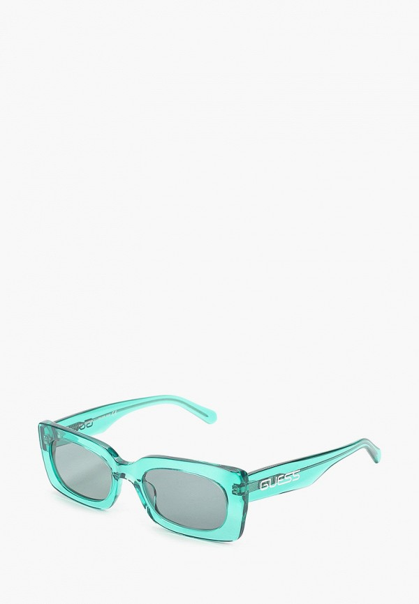 женские квадратные солнцезащитные очки guess, бирюзовые