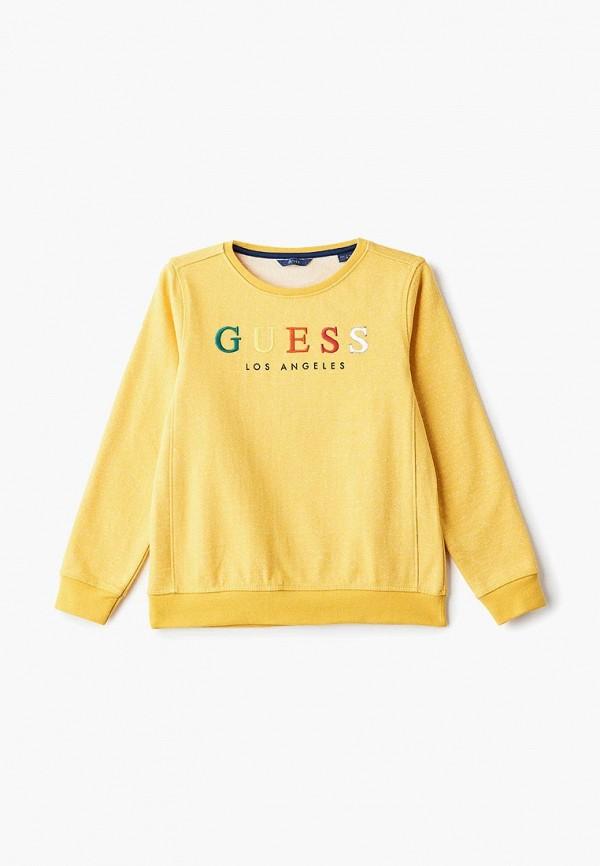 Купить Свитшот Guess, gu460ebeamz0, желтый, Весна-лето 2019
