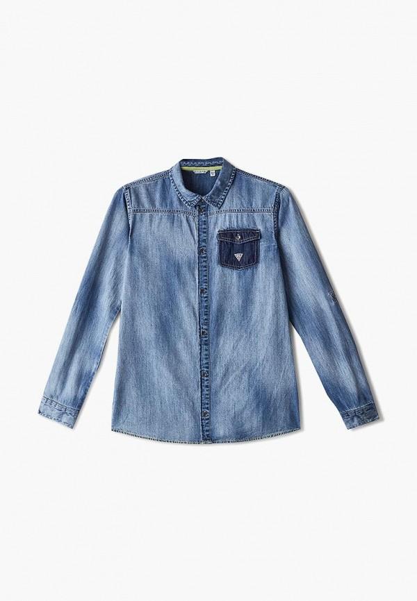 Рубашка джинсовая Guess Guess GU460EBFNLB8 рубашка guess guess gu460ebeamz8