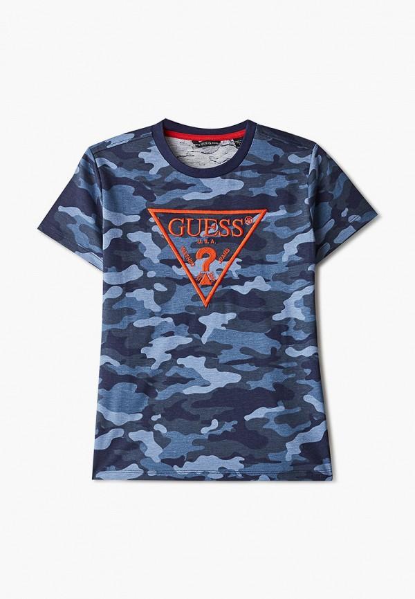 футболка с коротким рукавом guess для мальчика, синяя