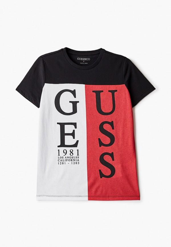 футболка с коротким рукавом guess для мальчика, черная