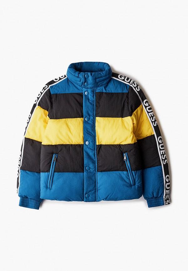 куртка guess для мальчика, разноцветная