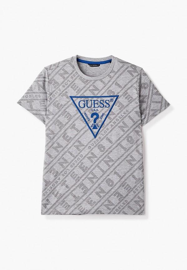 футболка с коротким рукавом guess для мальчика, серая