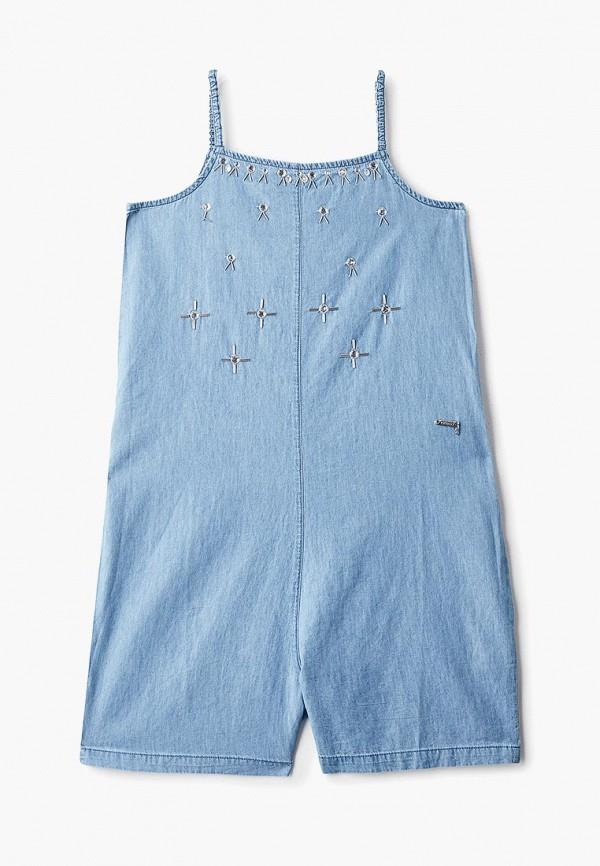 джинсовые комбинезон guess для девочки, голубой
