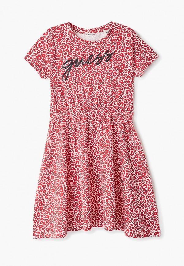 повседневные платье guess для девочки, красное