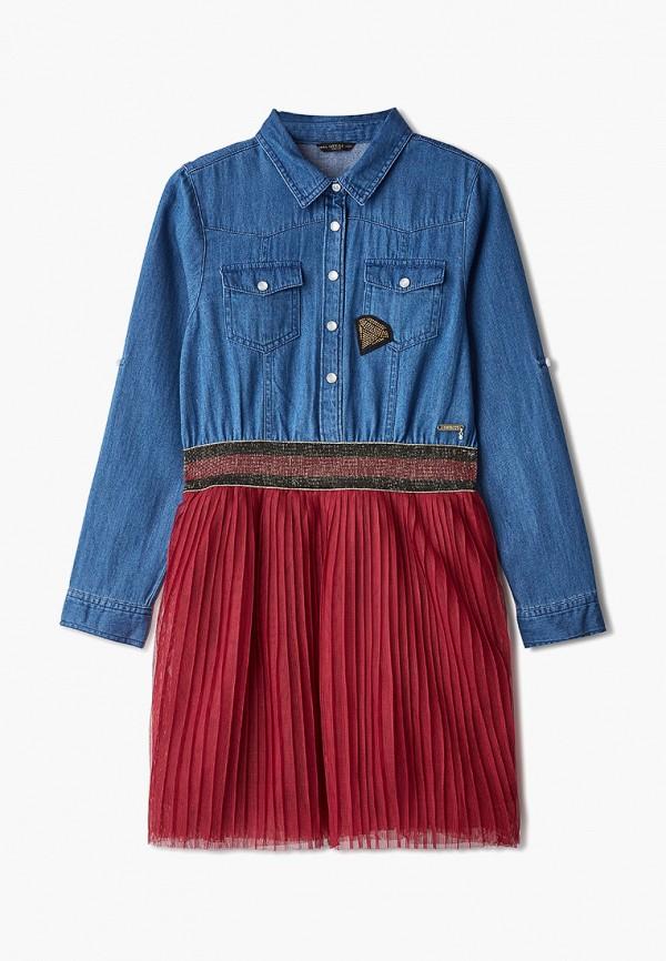 платье guess для девочки, синее