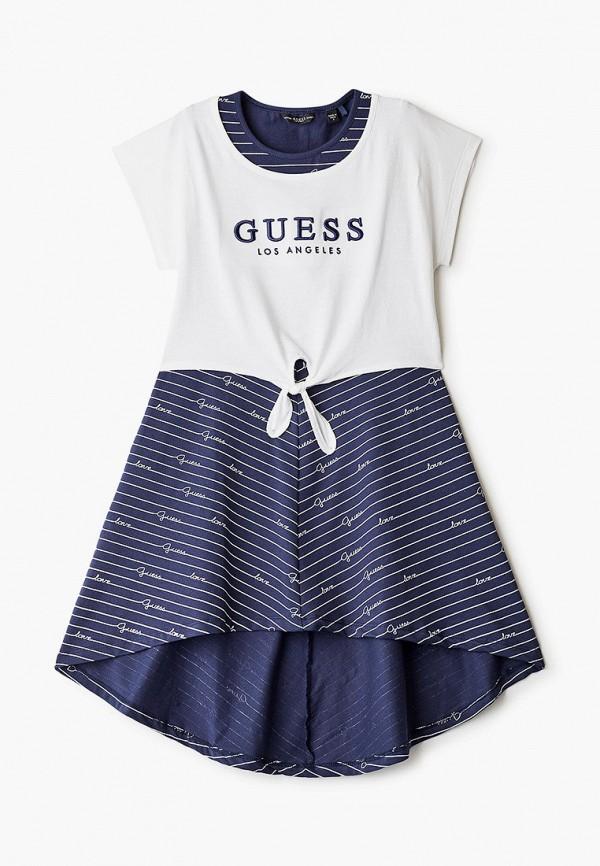 повседневные платье guess для девочки, разноцветное