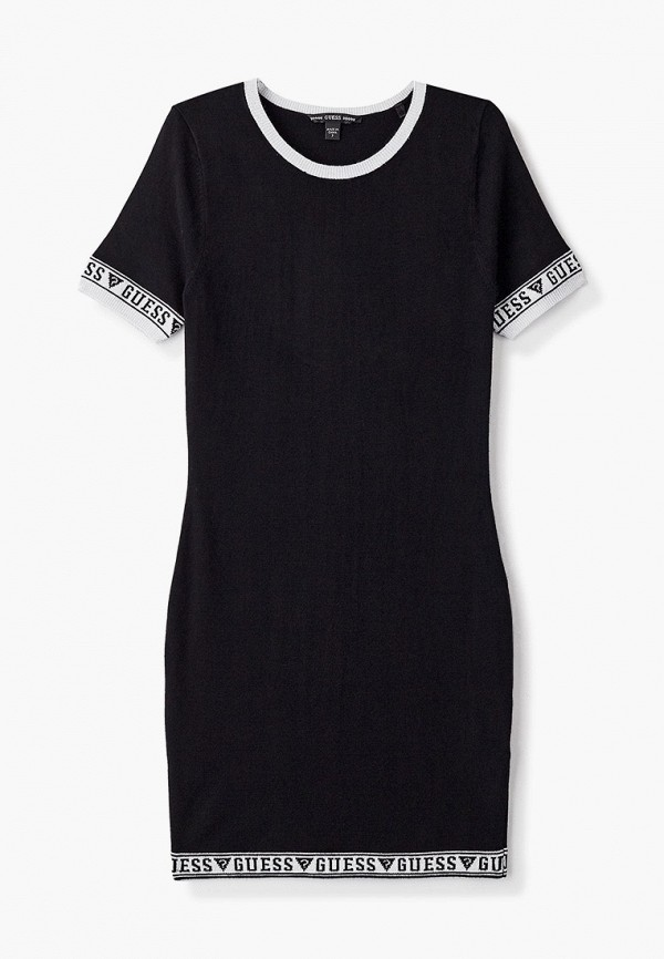 повседневные платье guess для девочки, черное