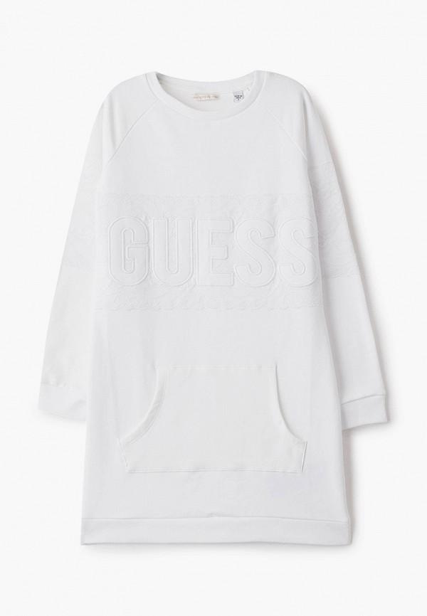 повседневные платье guess для девочки, белое