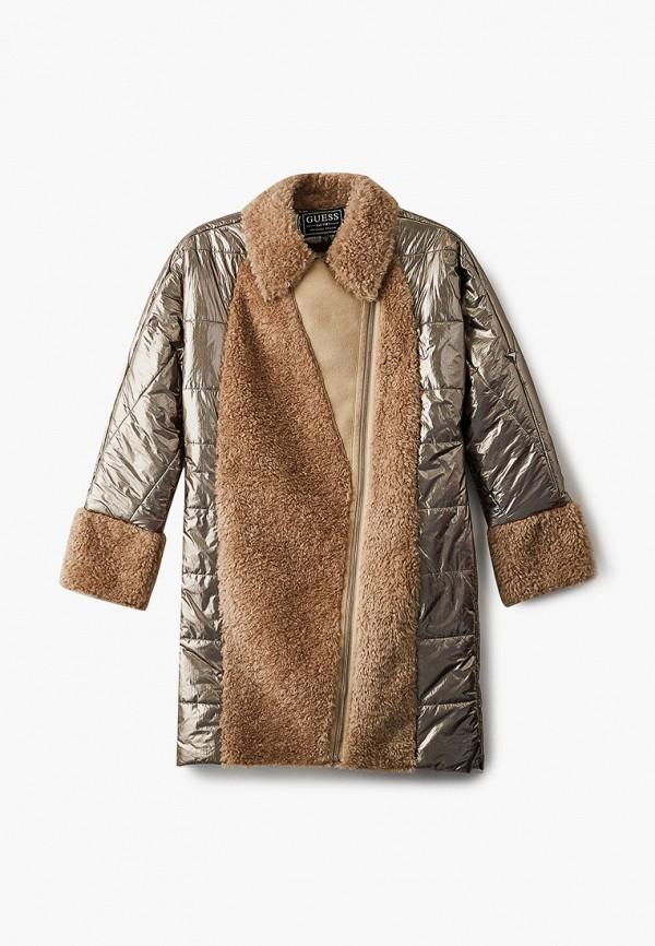 куртка guess для девочки, золотая