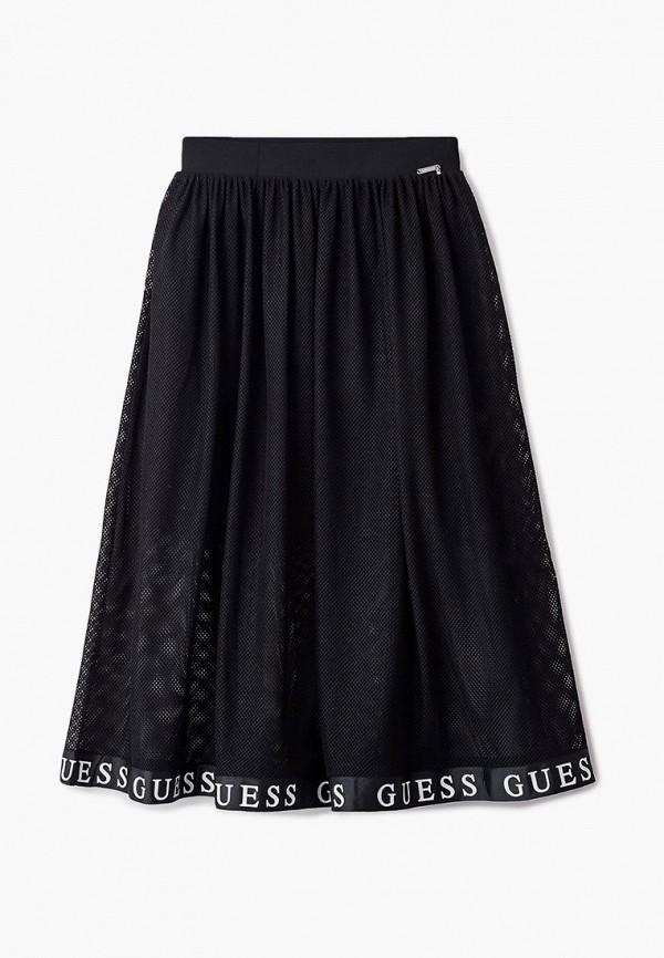 юбка guess для девочки, черная
