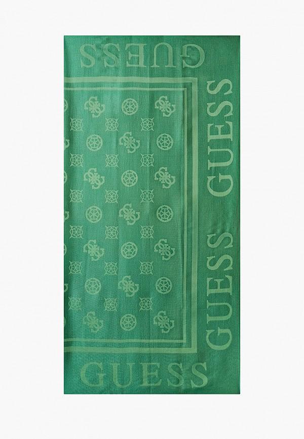 женский платок guess, зеленый