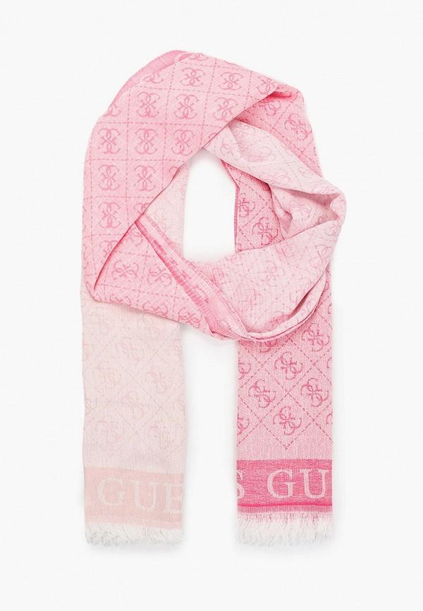 женский палантин guess, розовый