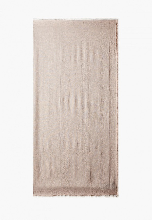 женский платок guess, бежевый