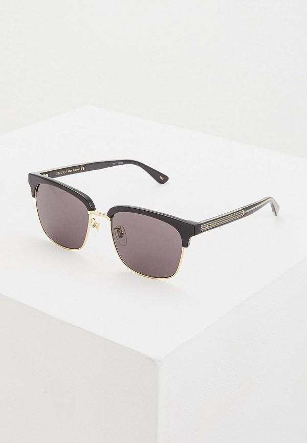 мужские квадратные солнцезащитные очки gucci, черные