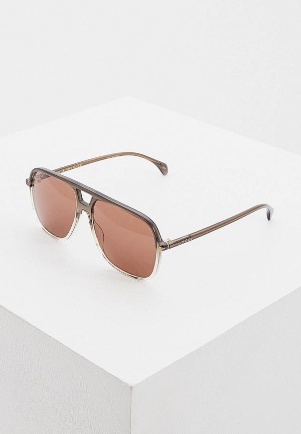 мужские квадратные солнцезащитные очки gucci, серые