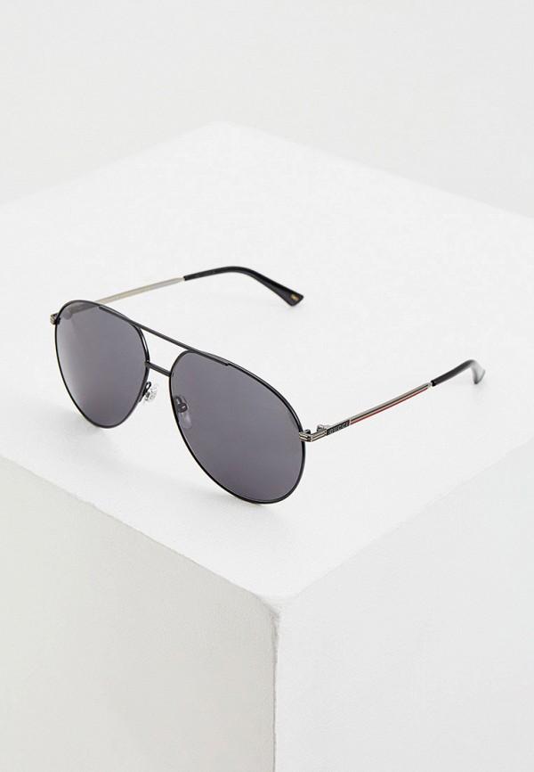 мужские авиаторы солнцезащитные очки gucci, черные