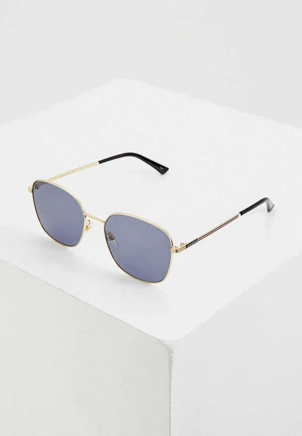 мужские квадратные солнцезащитные очки gucci, синие