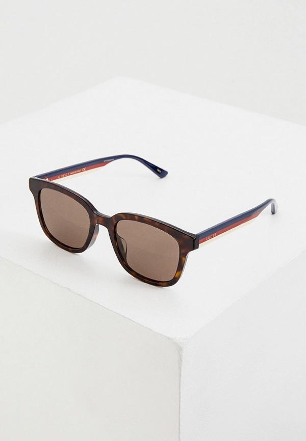 мужские солнцезащитные очки gucci, коричневые