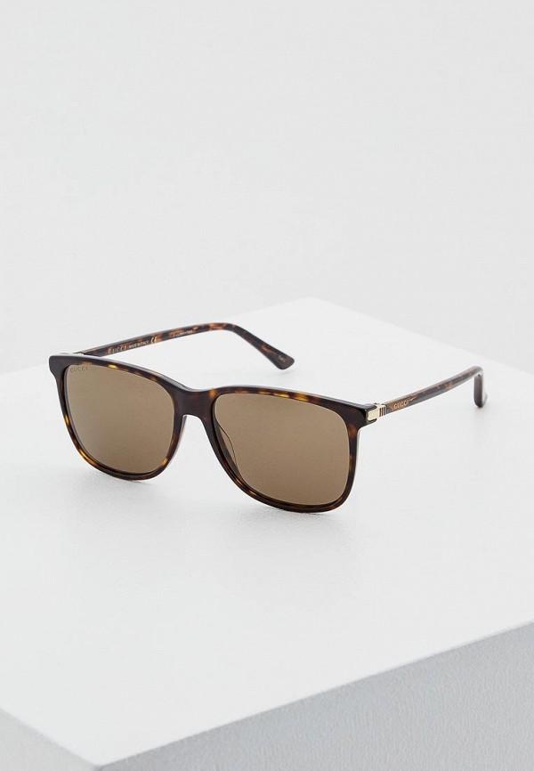 мужские квадратные солнцезащитные очки gucci, коричневые