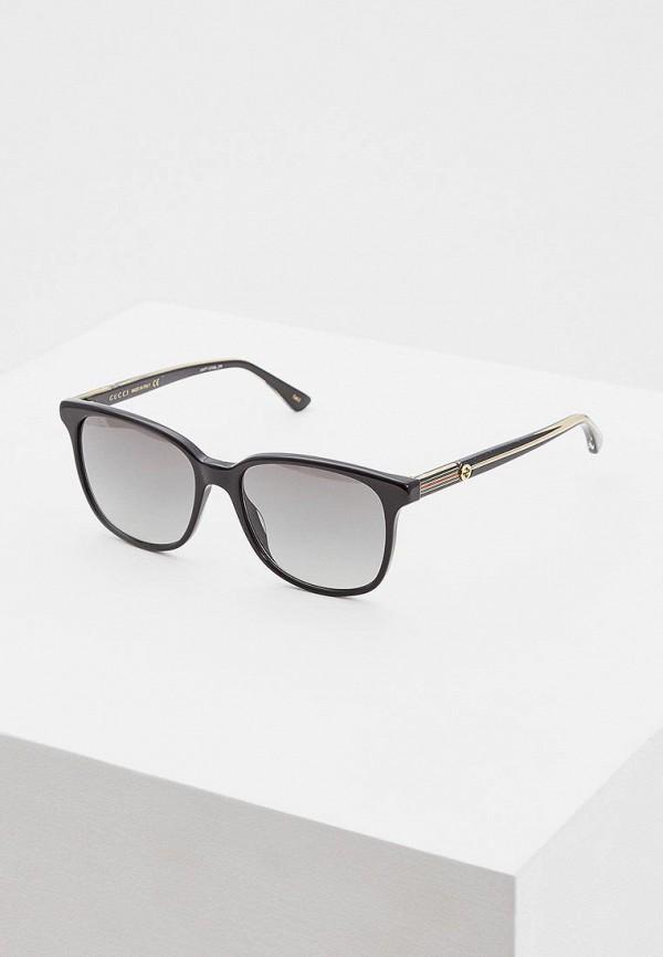 женские солнцезащитные очки gucci, черные
