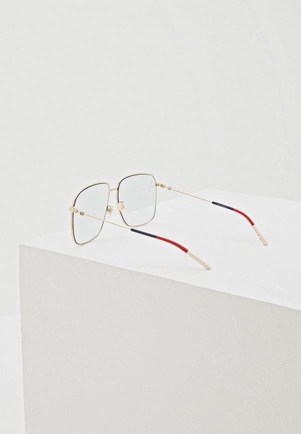 Фото 3 - Очки солнцезащитные Gucci голубого цвета