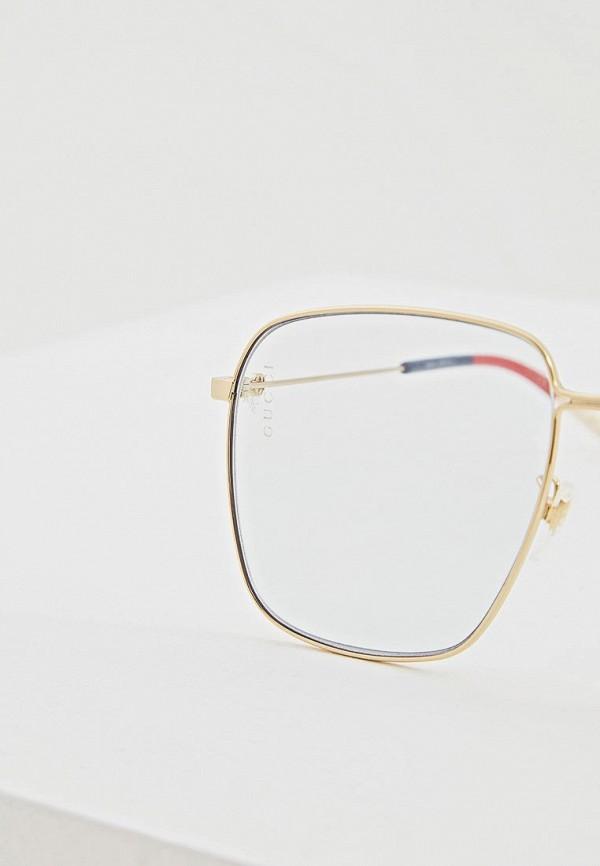 Фото 4 - Очки солнцезащитные Gucci голубого цвета