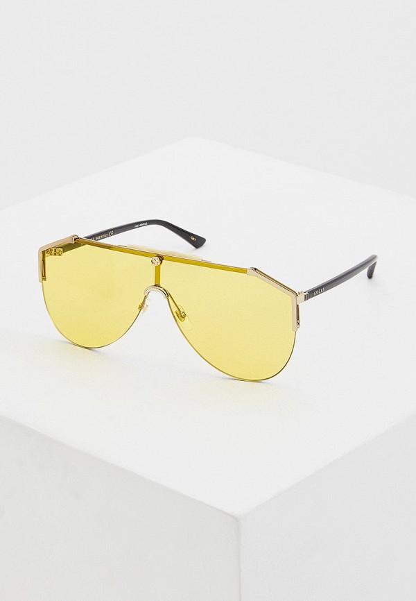 женские авиаторы солнцезащитные очки gucci, желтые