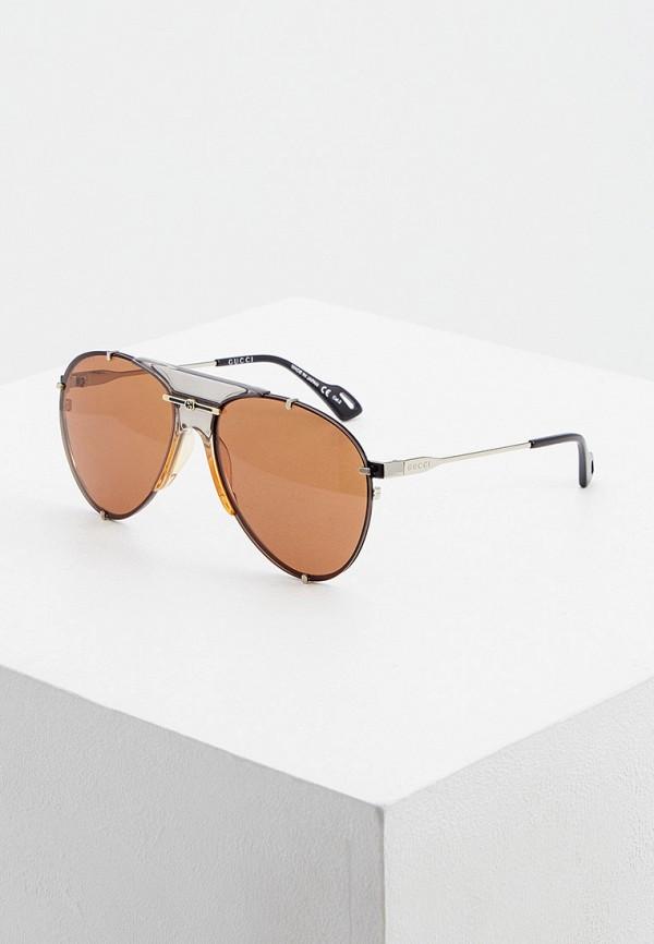 женские авиаторы солнцезащитные очки gucci, разноцветные