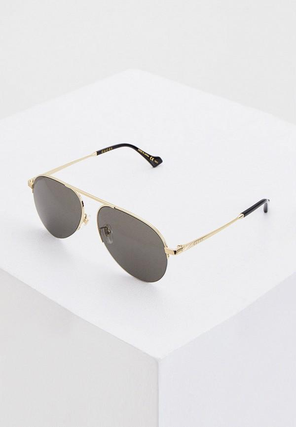 женские авиаторы солнцезащитные очки gucci, серые