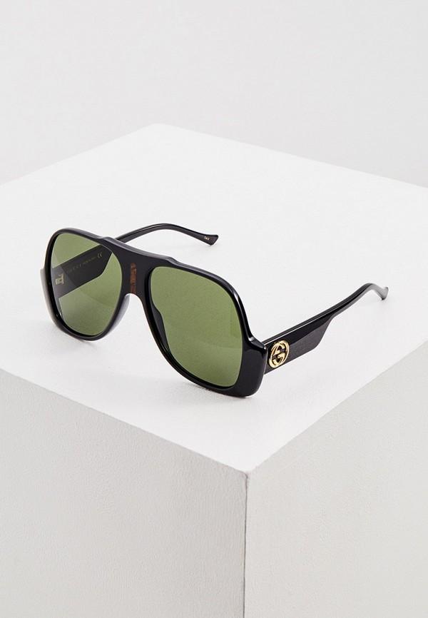 женские квадратные солнцезащитные очки gucci, черные